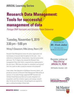 [Learning Series] Research Data Management: Tools for successful management of data