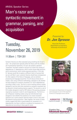 [Speaker Series] Marr's razor and syntactic movement in grammar, parsing, and acquisition