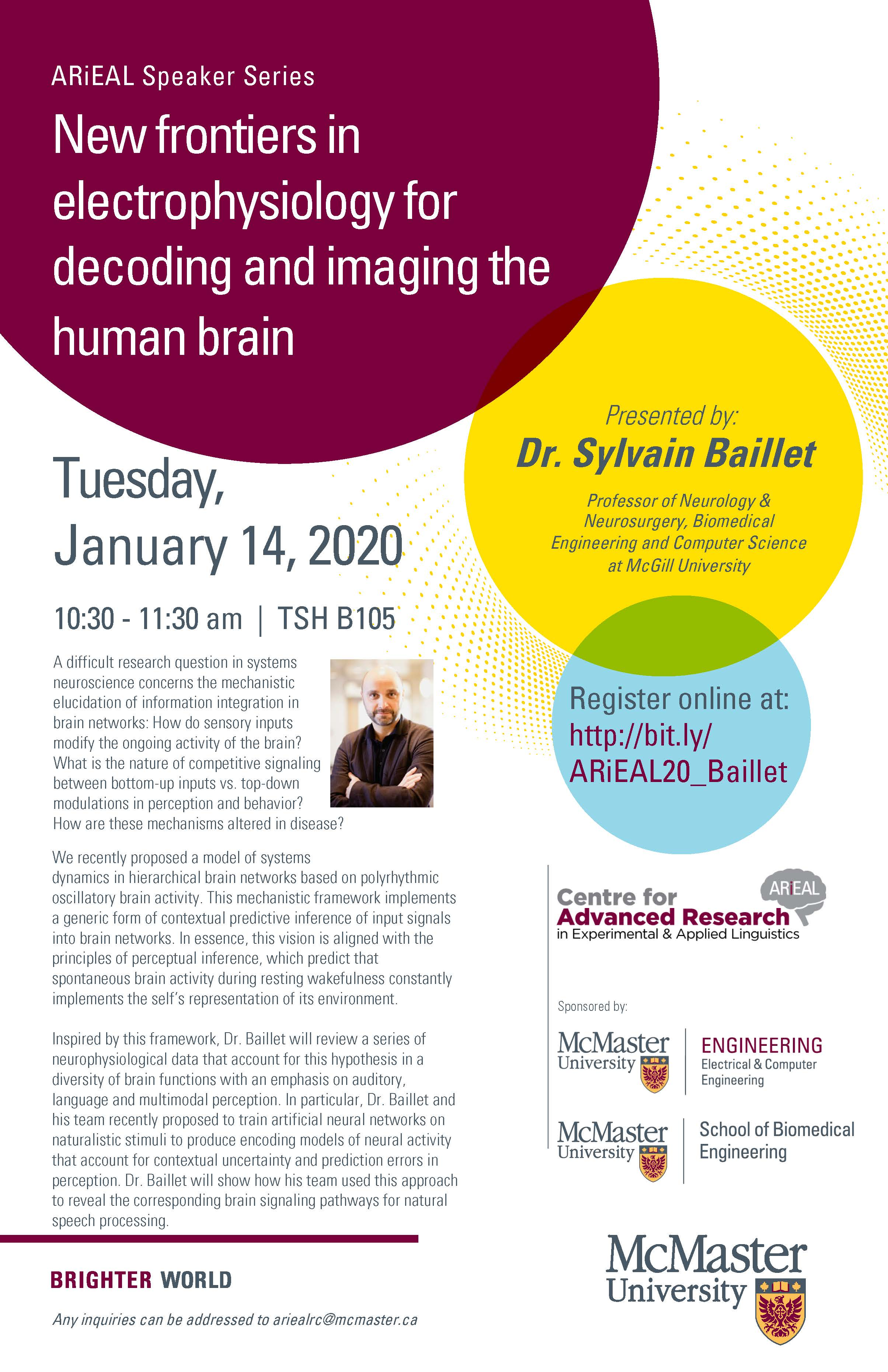 [Speaker Series] New frontiers in electrophysiology for decoding and imaging the human brain